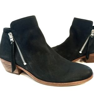 Sam Edelman Petty Black Suede Booties size 6